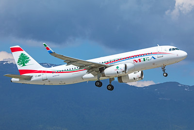 MEA - Middle East Airlines Airbus A320-232 T7-MRF 5-22-19 2