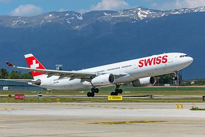 Swiss Airbus A330-343 HB-JHE 5-22-19