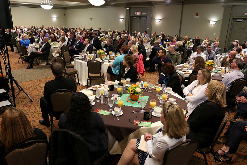 Many came to hear Dan Schawbel the guest speaker at the Gardner Visiting Nurses Associations 8th Annual Executive Leadership Breakfast at Great Wolf Lodge New England on Thursday, October 19, 2017. SENTINEL & ENTERPRISE/JOHN LOVE