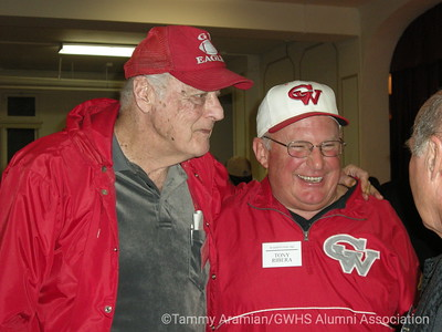 former varsity football Head Coach Jim Ruane with Tony