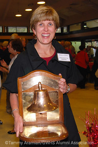 Principal Lovrin with the Bell Trophy