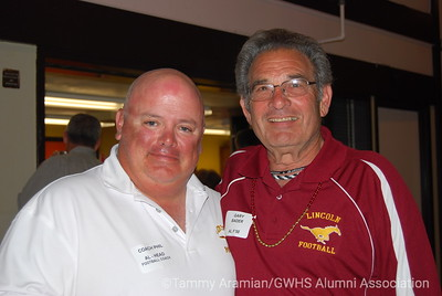 ALHS varsity football head coach Phil Ferrigno, ALHS Sports Foundation President Gary Bader