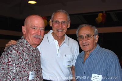 Leonard Rovegno GW '55, George Choppelas GW '50, Gene Choppelas AL '58