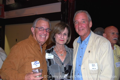 Barry Tompkins '57, Denise Joseph '54, David Miln Smith '56