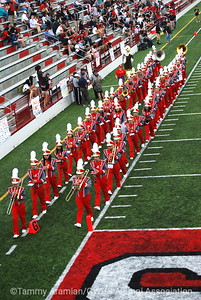 GWHS Marching Band leaves the field