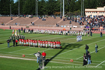 Pregame moment of silence for former GW football coach Jim Ruane who died the previous Saturday.