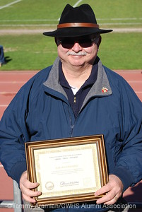 Jim Dierke with his certificate