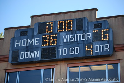 "2010 Turkey Bowl final score 36-6 - GW, with the better regular-season record, was the ""home"" team."
