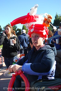 Jonathan the well-known balloon guy, in big demand for his unique creations.