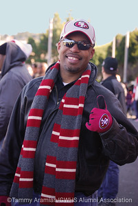 Ro Williams, Class of '93, enjoys the game