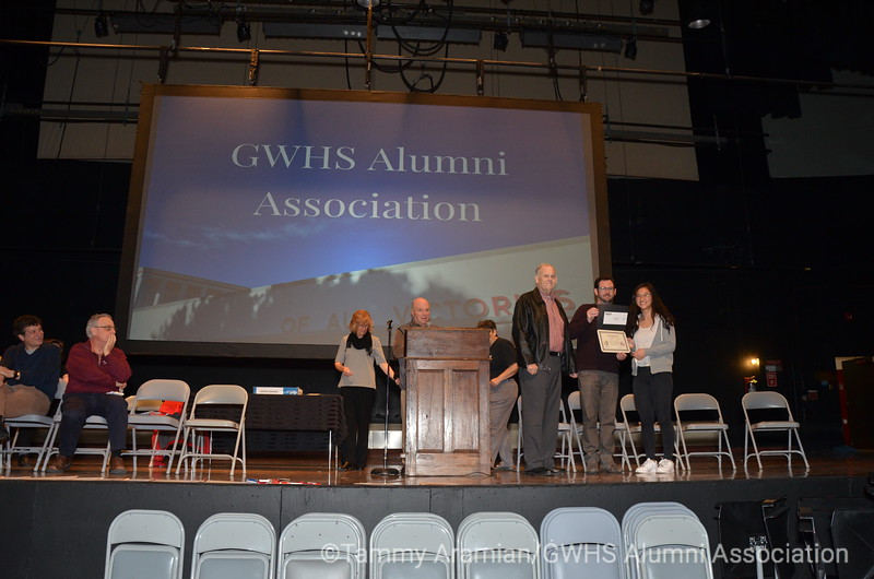 inaugural Gael Beresford Memorial Math Award for excellence in AP Statistics, presented by Gael's husband Owen and son Branden