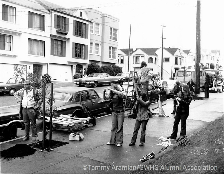 April 1974 tree planting on 32nd Ave