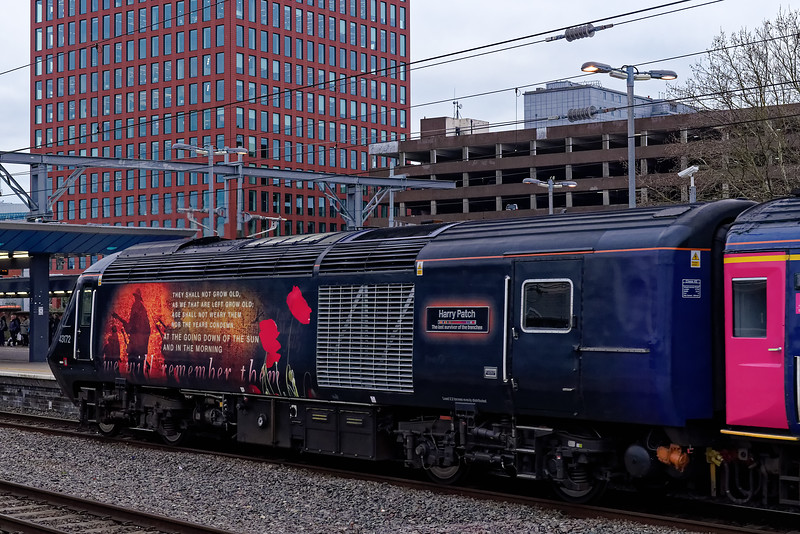 """43172 """"Harry Patch"""" departs Reading, on the rear of 1C88, the 16:03 Paddington - Penzance. 20th March 2019."""