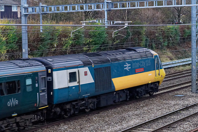 43002 on the rear of the 09:29 Swansea - Paddington, at Didcot West End. 5th January 2019.