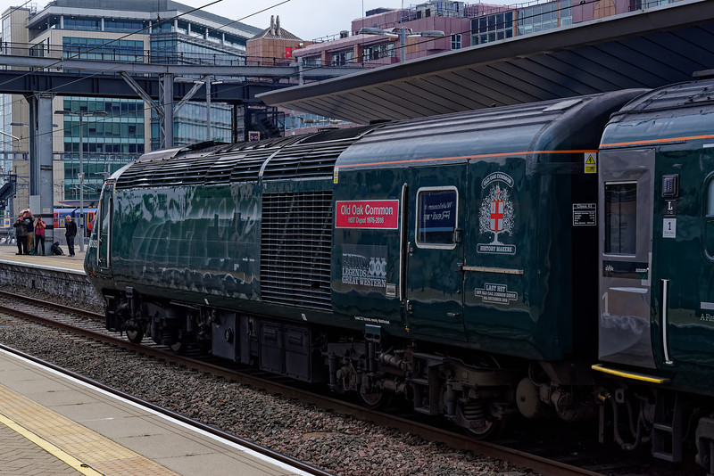 43093 at Reading, with 1A78, the 06:50 Penzance - Paddington. <br /> 18th May 2019, the final day of GWR mainline HST services.