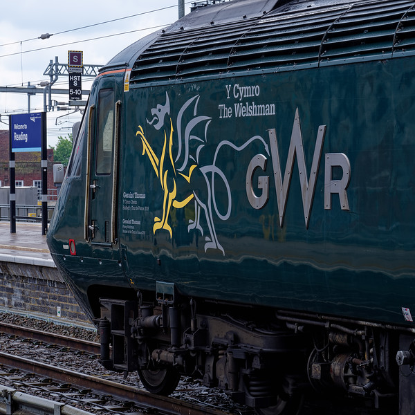 43188 standing at Reading on the rear of 1A23, the 15:30 Bristol Temple Meads - Paddington. 18th May 2019, the final day of GWR mainline HST services.