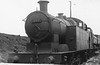 399 Taff Vale Railway Hawthorne Leslie built Welsh 0-6-2T at Cardiff E Dock shed 4-4-1954