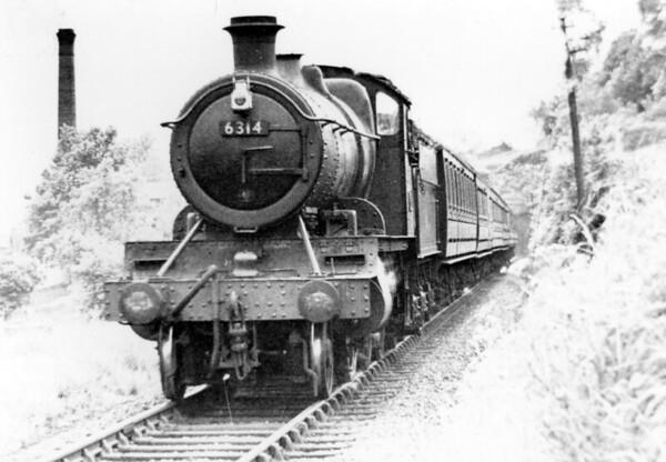 6314 Bridgenorth tunnel with a Kidderminster to Shrewsbury service 19th May 1959 Churchward 4300 class