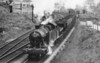 7232 on a coal train banked at the rear at Aberbeeg April 1957 Collett 7200 class