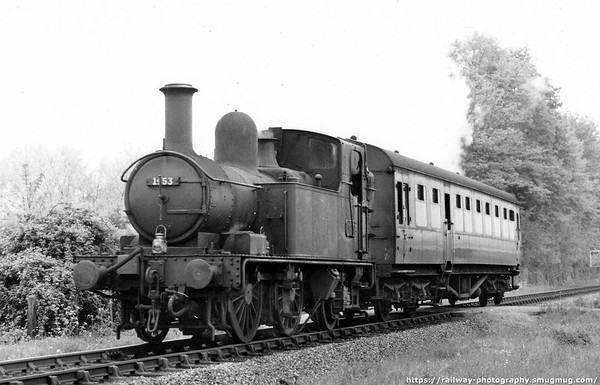 1453 leaving Marlow on a Bourne End train April 1961 Collett 1400 class