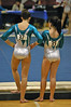 Alyssa and Ali psyching up for the floor exercise.