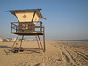 Lifeguard tower at Huntington Beach