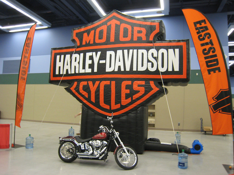 Meet Sponsored by local 'Eastside Harley-Davidson Motorcycle' distributor, whose daughter is active in Seattle gymnastics. All-around winners received white leather Harley-Davidson motorcycle jackets.