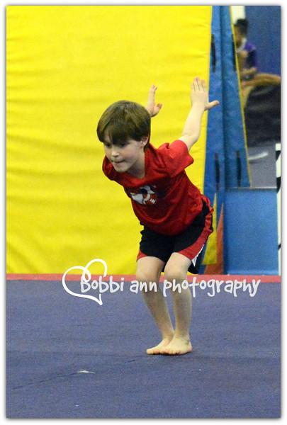 Bozhi's Gymnastics Olympics March 2015