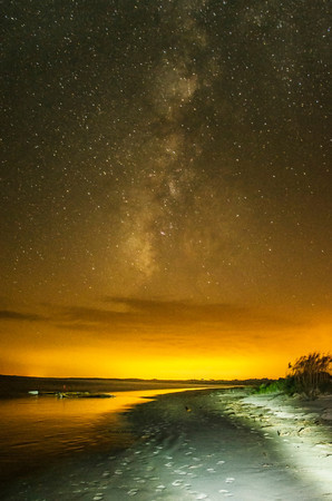 Cabretta Island Beach at Night
