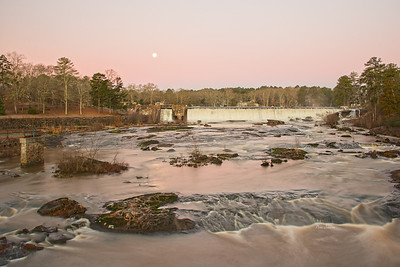 Moon Set Over High Falls
