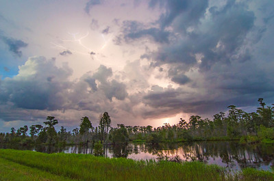 Storm Coming In Over the Okefenokee Swamp