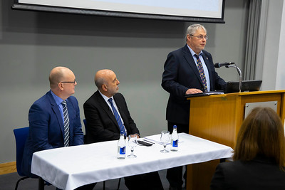 20/11/2019. Pictured at WIT (Waterford Institute Of Technology) is Gabriel Makhlouf Governor of the Central Bank. Picture: Patrick Browne