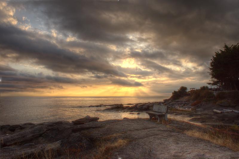 Orlebar Point Bench at Sunrise