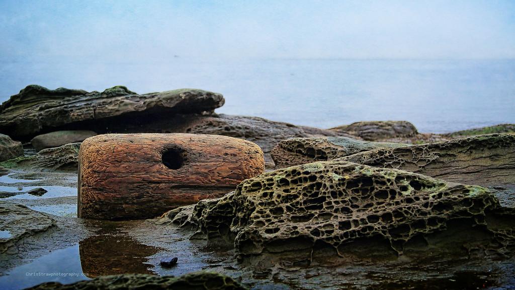 Boom Log and Sandstone