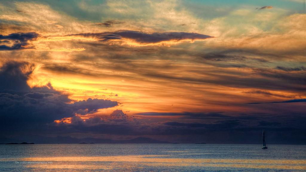 Sailboat and Majestic Sunset