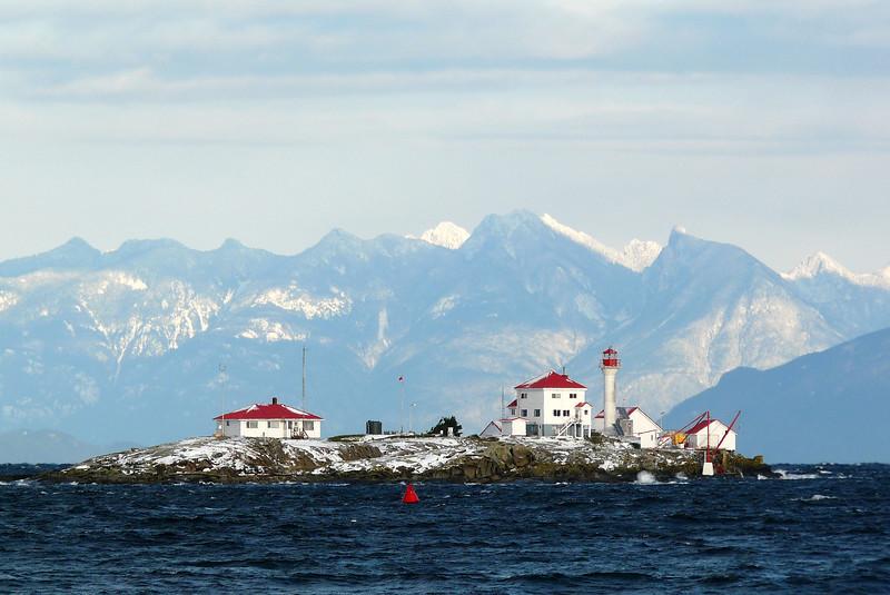 Snowy Entrance Island