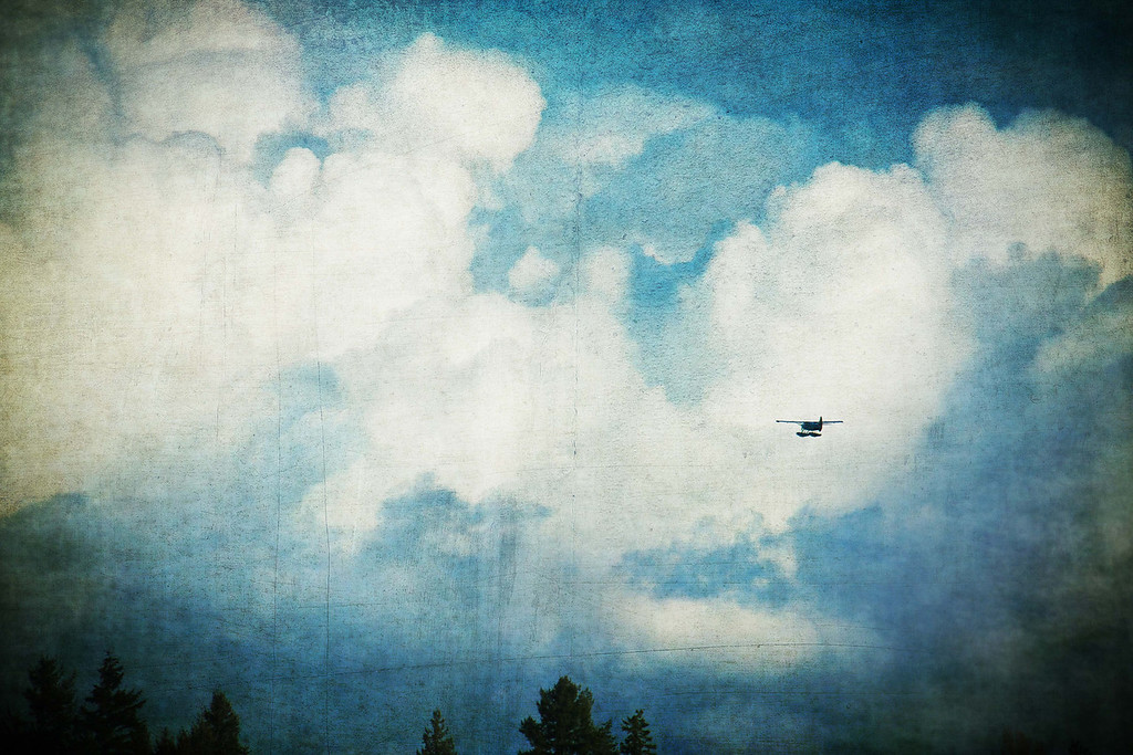 Float Plane In Clouds