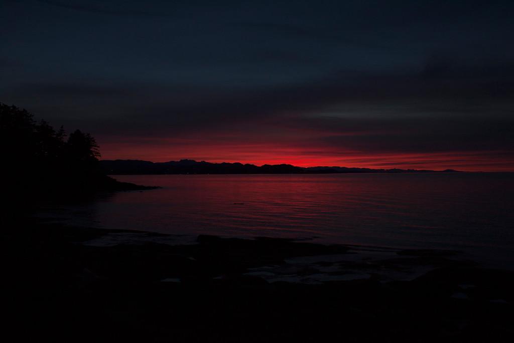 End of Sunset over Nanaimo