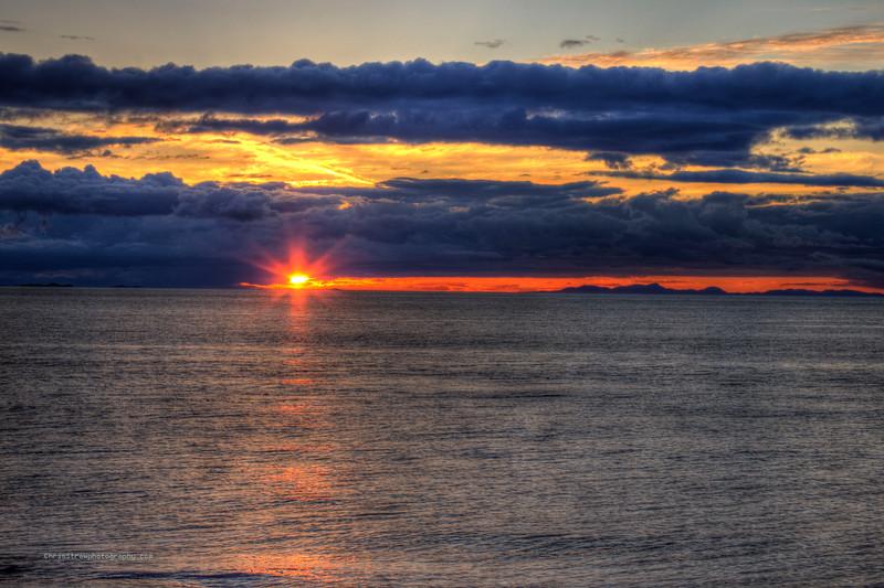 Orange Starburst Sunset