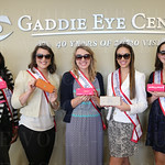The Princesses displayed their sunglasses: Briana Lathon, Sophie Knight, Kathryn Ashby, Kyle Horseback and  Madison Evans.