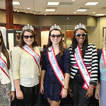 The 2015 Kentucky Derby Festival Royal Court, Kyle Hornback, Sophie Knight, Madison Evans, Briana Lathon and Kathryn Ashby.