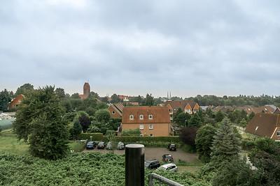 Udsigt fra hotellet ud over Lübeck