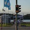 Blinklys ved havnen