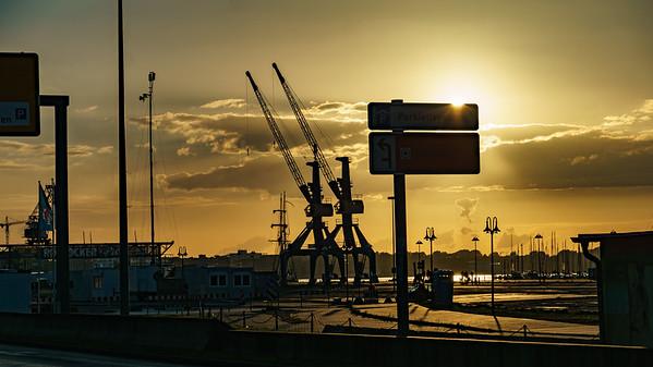 Gamle kraner på Rostock havn
