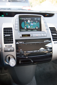 Audio, climate control, GPS... it's all on the screen.
