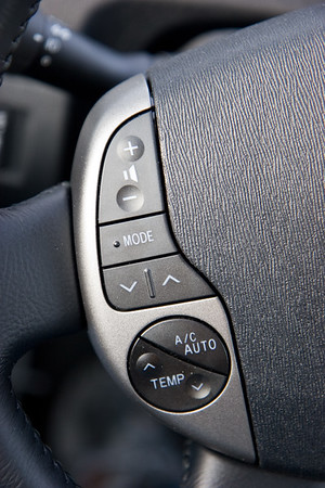 Having everything on one big display could be pretty annoying, but all the most common stuff is available on the steering wheel.