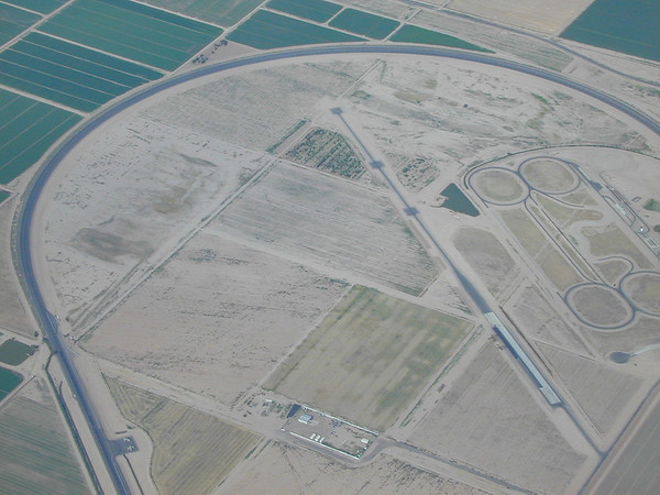 West of Casa Grande, we saw several of these very large automobile test tracks.