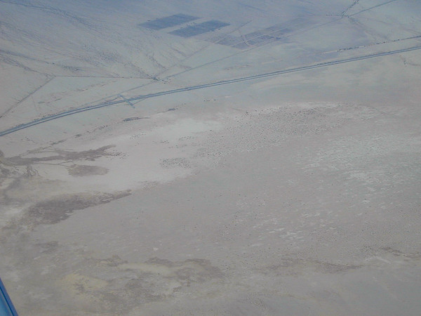 West of Blythe, the desert is much drier than it was back in Arizona.