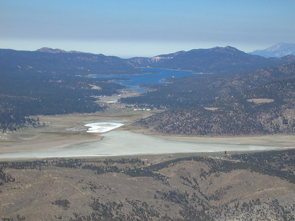 Big Bear City and Big Bear Lake in the San Bernardino Mountains.
