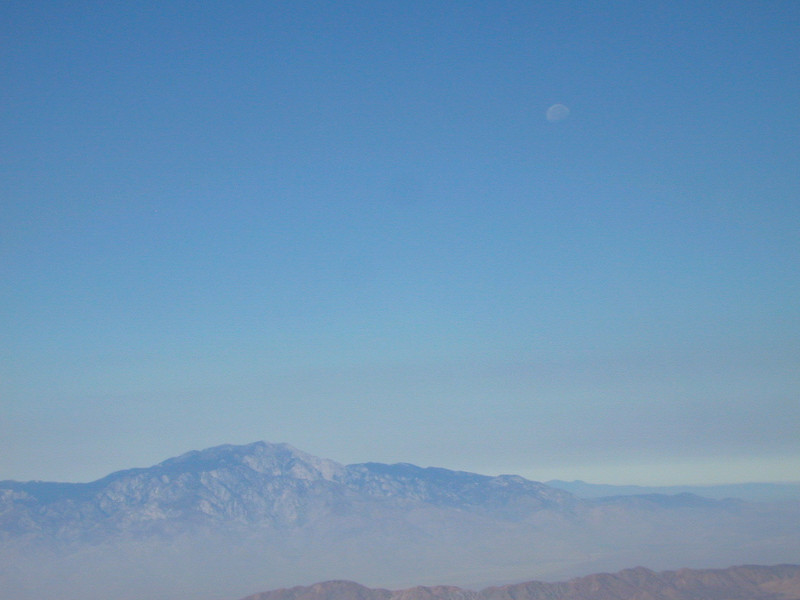 The moon over San Jacinto Peak near Palm Springs.
